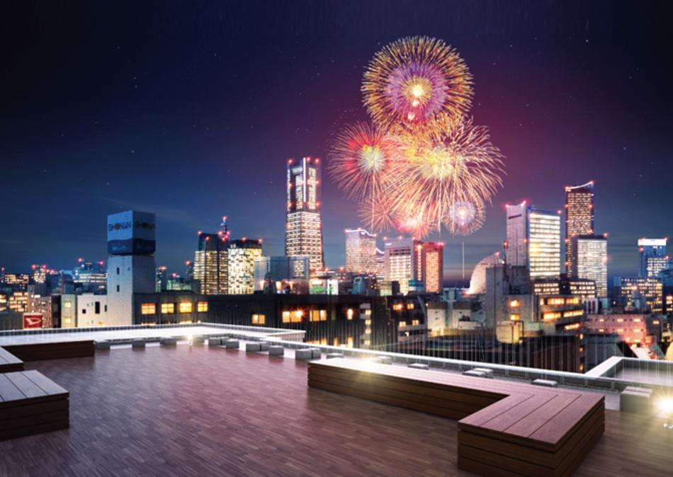 完成予想CG ※現地12階相当からの眺望を合成したもので実際とは異なります