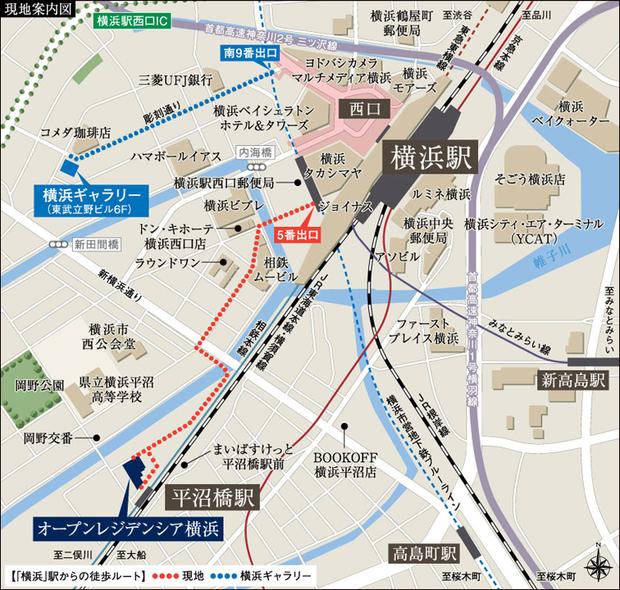 <現地・横浜ギャラリー案内図>