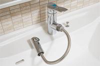 「エコ位置クリック」採用の洗面水栓