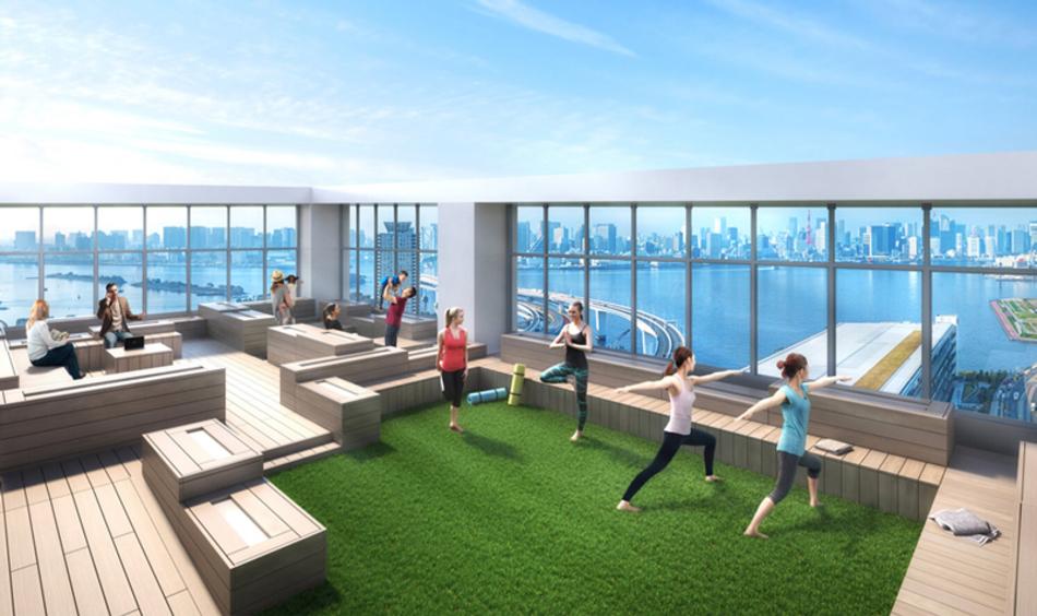 完成予想CG ※現地33階相当から北西方向の眺望(2018年11月撮影)を合成したもので実際とは異なります